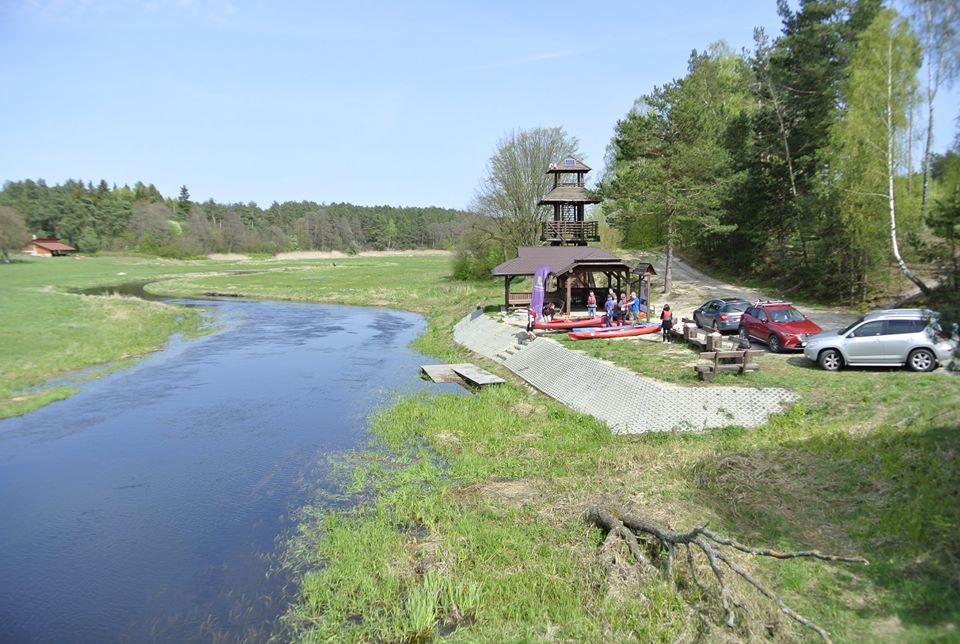Rzeka Włodawka w Suchawie.