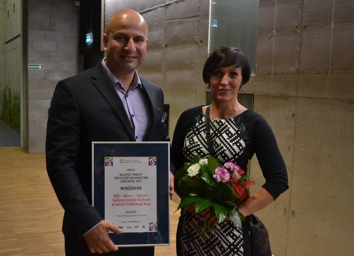 Kajaki nad Bugiem - wyróżnienie w konkursie Najlepszy Produkt Turystyczny na Lubelszczyźnie 2016