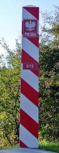 Słupek graniczny 015 koło wodowskazu we Włodawie