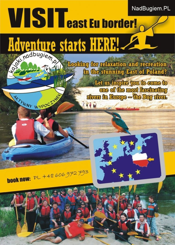 Kayaking leaflet - east Poland offer.