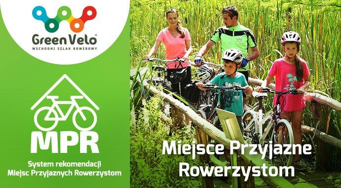 Miejsce Przyjazne Rowerzystom w Sławatyczach, na szlaku rowerowym Green Velo.