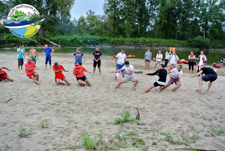 aktywności sportowe podczas spływu po Bugu