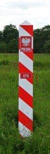 znak graniczny 076, znak graniczny w Jabłecznej, słupek graniczny w Jabłecznej