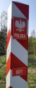 Trójsyk granic Włodawa - Poleska Dolina Bugu - słupek graniczny 001