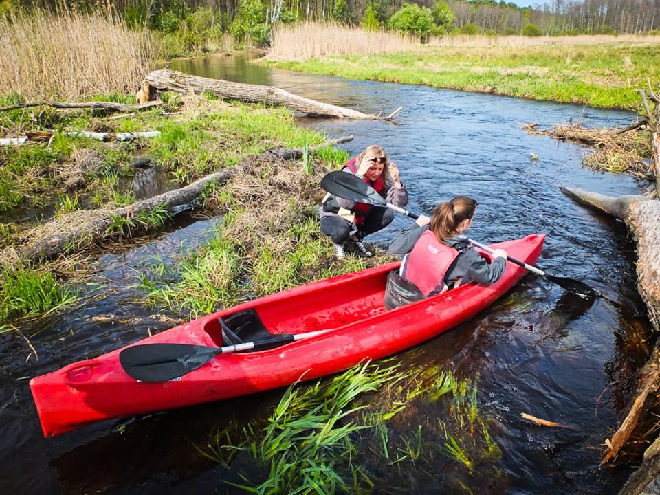 Przenoska na zwałce - rzeka Włodawka