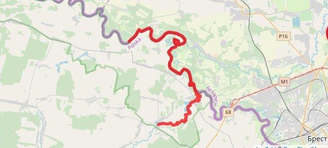 Spływ w Lubelskim po rzece Krznie i Bugu.