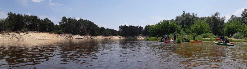 Plaża nad Bugiem w Dołhobrodach, na spływie Różanka - Sławatycze
