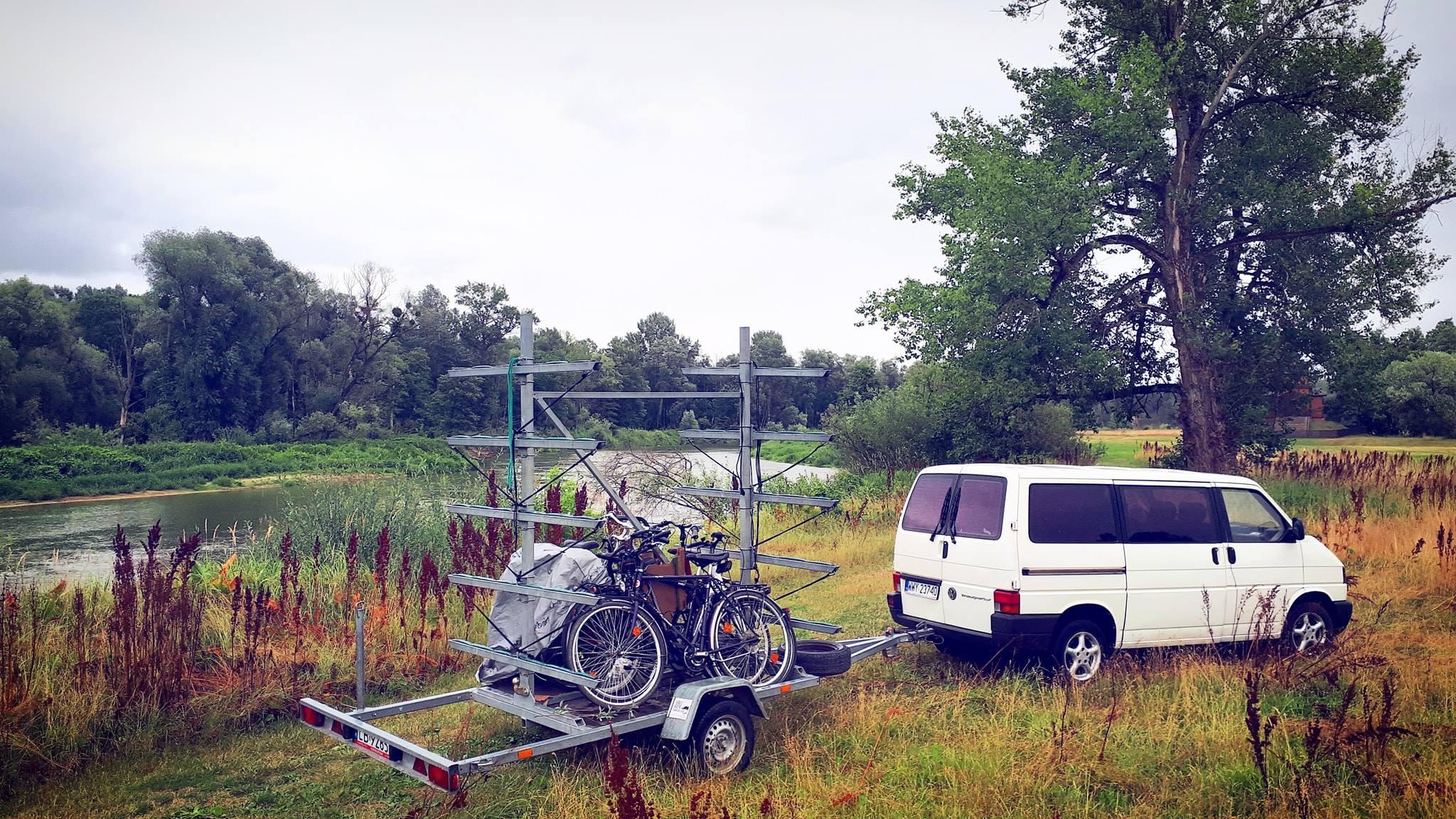 Transport rowerów Green Velo, Transfery rowerów na szlaku Green Velo
