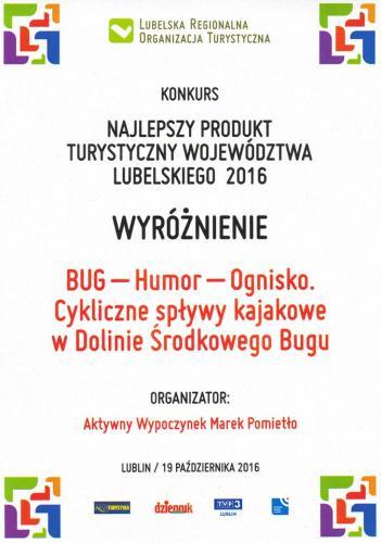 """Spływy kajakowe w Dolinie Bugu - wyróżnienie """"Bug Humor Ognisko"""""""