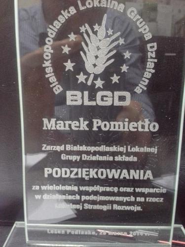 podziękowanie za współpracę - Aktywny Wypoczynek Marek Pomietło