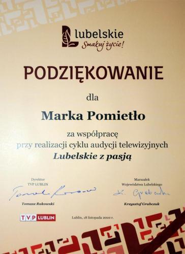 podziekowanie Marek Pomietło, Lubelskie z pasją, spływy kajakowe po Bugu, kajakiem po Bugu, aktywny wypoczynek