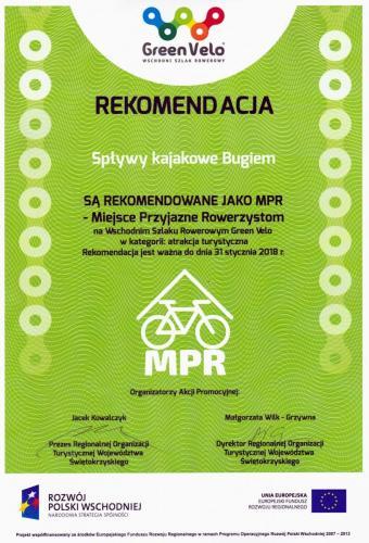 rekomendacja Green Velo, kajaki rowery, szlak rowery Green Velo - kajaki przy szlaku Green Velo, oferta dla rowerzystów