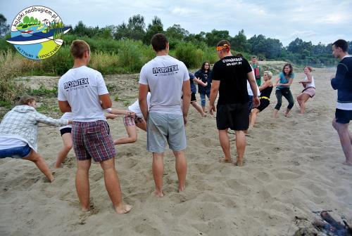 Młodzieżowy spływ kajakowy, integracyjny spływ młodzieżowy, młodzież OHP w kajaku
