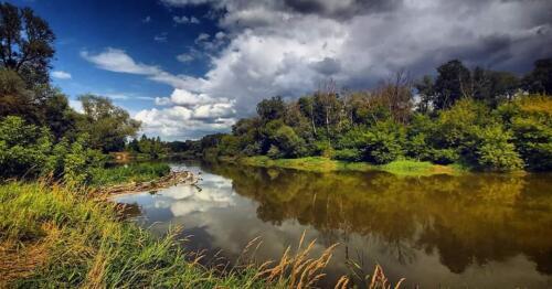 widok na bug, kajaki na Bugu, malownicza rzeka Bug, rzeka Bug, Bug graniczny