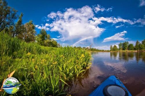 kajak na Bugu, widok na rzekę bug, rzeka bug, kajakowa przygoda,